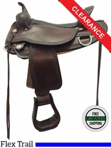 "17"" Circle Y Copper Mine Wide Flex2 Trail Saddle 1565 CLEARANCE"