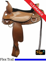 "SOLD 2016/05/31 17"" Circle Y Cottonwood Flex2 Trail Saddle 2361 CLEARANCE"