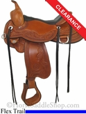 "SOLD 2014/07/12 $2115 17"" Circle Y Julie Goodnight Monarch Flex2 Arena Performance Saddle 1752"