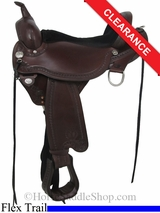 "17"" Circle Y Sheridan Flex2 Trail Saddle 1572"