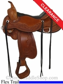 "17"" Circle Y Julie Goodnight Monarch Flex2 Arena Performance Saddle 1752"