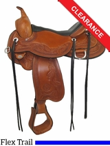 "17"" Circle Y Julie Goodnight Monarch Flex2 Arena Performance Saddle 1752 CLEARANCE"