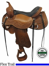"17"" Circle Y Monarch Wide Flex2 Julie Goodnight Trail Saddle 1752, Floor Model *Free Shipping*"