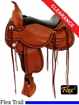 """SOLD 2016/02/01 18"""" Circle Y Pioneer Flex2 Trail Saddle 1665 CLEARANCE"""