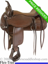 "17"" Circle Y Topeka Flex2 Trail Saddle 1651"