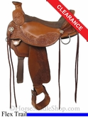 "17"" Circle Y Walnut Grove Flex2 Trail Saddle 1157"