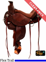 "14"" Circle Y Walnut Grove Flex2 Trail Saddle 1157 CLEARANCE"