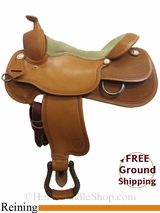 "PRICE REDUCED! 17"" Circle Y Xtreme Performance 2670 Reining Saddle, Wide Tree, Floor Model uscy3000 *Free Shipping*"