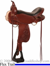 """17"""" Easy-Fit Trail Saddle 'Marble Falls' High Horse by Circle Y 6815"""