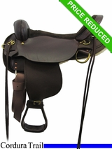 "17"" High Horse by Circle Y Highbank Cordura Trail Saddle 6916"
