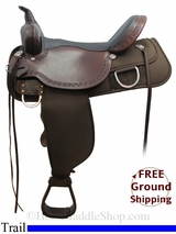 """SOLD 2015/08/24  17"""" High Horse Magnolia 6909 Trail Saddle, Wide Tree, Floor Model ushh3120 *Free Shipping*"""