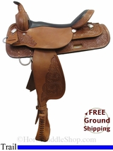 """SOLD 2015/03/08 17"""" High Horse Mineral Wells 6812 Trail Saddle, Floor Model ushh3001 *Free Shipping*"""