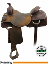 "SOLD 2016/05/25 PRICE REDUCED! 17"" Reinsman Brian Bell 4770 Reining Saddle, Wide Tree, Demo Saddle usrs3124 *Free Shipping*"