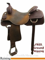"17"" Reinsman Brian Bell 4770 Reining Saddle, Wide Tree, Demo Saddle usrs3124 *Free Shipping*"