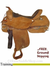 "PRICE REDUCED! 17"" Used Alamo Training Saddle usal2859 *Free Shipping*"