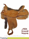 "17"" Used Alamo Training Saddle usal2859 *Free Shipping*"