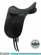"17"" Used Bates Caprilli Dressage Saddle 200157, usbc3579 *Free Shipping*"