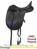 "PRICE REDUCED! 17"" Used Bates Dressage Saddle usen2655 *Free Shipping*"