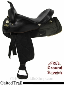 "SOLD 2014/10/28 $550 17"" Used Big Horn Gaited Trail Saddle usbh2849 *Free Shipping*"