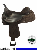 "SOLD 2016/12/16  17"" Used Big Horn Medium Cordura Trail Saddle 176 usbh3660 *Free Shipping*"