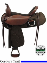 """SOLD 2016/09/09  17"""" Used Big Horn Wide Trail Saddle 337 usbh3481 *Free Shipping*"""