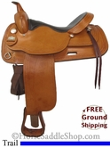 "17"" Used Big Horn Trail Saddle, Wide Tree usbh2716 *Free Shipping*"