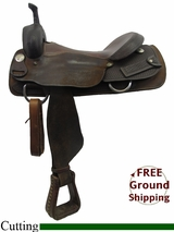 """PRICE REDUCED! 17"""" Used Billy Cook Cutting Saddle, Wide Tree usbi3234 *Free Shipping*"""