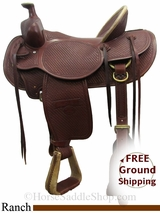 """SOLD 2015/06/23 17"""" Used Billy Cook Ranch Saddle, Wide Tree usbi3128 *Free Shipping*"""