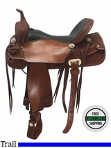 """SOLD 2017/03/04  17"""" Used Billy Cook Wide Trail Saddle 1536 usbi3686 *Free Shipping*"""