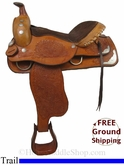 "PRICE REDUCED! 17"" Used Buffalo Saddlery Trail Saddle usbs2784 *Free Shipping*"