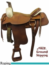 """SOLD 2015/08/30 17"""" Used Circle M Roping Saddle, Wide Tree uscm3232 *Free Shipping*"""