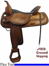 """SOLD 2015/11/20 17"""" Used Circle Y Flex-Lite Trail Saddle, Wide Tree uscy3228 1551 *Free Shipping*"""