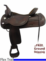 """SOLD 2015/09/26 17"""" Used Circle Y Flex Lite Trail Saddle, Wide Tree uscy3239 *Free Shipping*"""