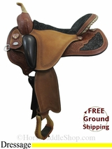 "PRICE REDUCED! 17"" Used Circle Y Flex2 Dressage Saddle, Wide Tree uscy3090 *Free Shipping*"