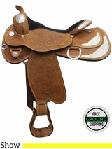 "SOLD 2016/06/20 17"" Used Circle Y Flex2 Show Saddle 3682, Wide Tree uscy3041 *Free Shipping*"