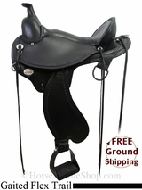 "PRICE REDUCED! 17"" Used Circle Y Kentucky Gaited Flex2 Trail Saddle, Wide Tree uscy2993 *Free Shipping*"