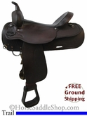 "SOLD 11/29/13 $577.13 PRICE REDUCED! 17"" Used Circle Y Trail Saddle uscy2640 *Free Shipping*"
