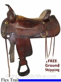 "PRICE REDUCED! 17"" Used Circle Y Trail Saddle, Wide Tree uscy2687 *Free Shipping*"