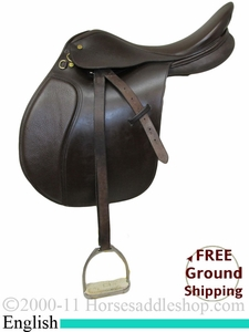 "PRICE REDUCED! 17"" Used Collegiate English Saddle usen2101 *Free Shipping*"