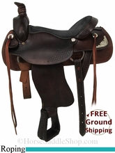 "17"" Used Dakota Roping Saddle, Wide Tree usdk2863 *Free Shipping*"