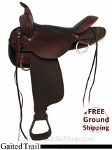 "SOLD 2015/01/23 17"" High Horse El Campo 6970 Cordura Gaited Trail Saddle, Floor Model ushh2972 *Free Shipping*"