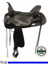 """SOLD 2016/10/10  17"""" Used High Horse Texas City Wide Trail Saddle 6821 ushh3597 *Free Shipping*"""