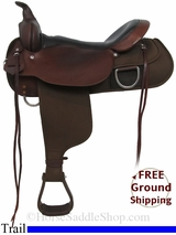 "17"" High Horse Lockhart 6910 Cordura Trail Saddle, Floor Model ushh2969 *Free Shipping*"