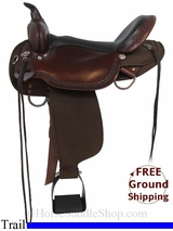 "17"" High Horse Daisetta 6914 Cordura Trail Saddle, Wide Tree, Floor Model ushh2968 *Free Shipping*"