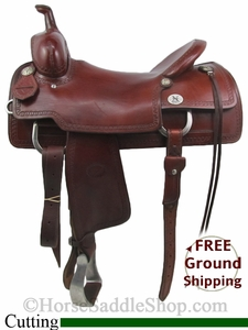 "SOLD 2014/07/02 $1000 PRICE REDUCED! 17"" Used Reinsman Cutting Saddle, Wide Tree usrs2750 *Free Shipping*"
