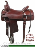 "PRICE REDUCED! 17"" Used Reinsman Cutting Saddle, Wide Tree usrs2750 *Free Shipping*"