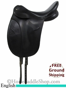 "SOLD 2014/07/22 $400 PRICE REDUCED! 17"" Used Stateline Cambridge English Saddle, Wide Tree usen2720 *Free Shipping*"