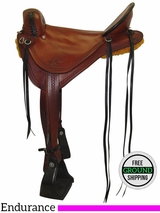 "17"" Used Synergist Custom Medium Endurance Saddle ussy3483 *Free Shipping*"