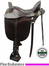 "17"" Used Tucker Medium Flex Endurance Saddle 136 ustk3507 *Free Shipping*"
