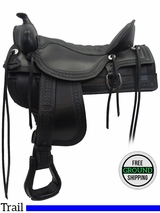 """SOLD 2016/01/31 18.5"""" Tucker Old West 277 Trail Saddle ustk3278 *Free Shipping*"""